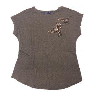 Apt. 9 Hummingbird Sequin Embellished Shirt Top